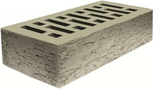 1НФ Кирпич лицевой керамический пустотелый Серебро Кора дуба