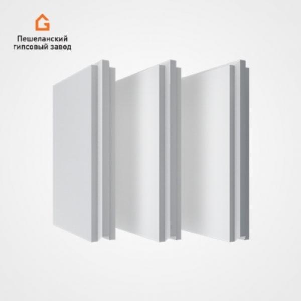 Гипсовые пазогребневые плиты ПГП стандартные полнотелые
