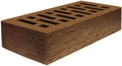 1НФ Кирпич лицевой керамический пустотелый Коричневый Кора дуба